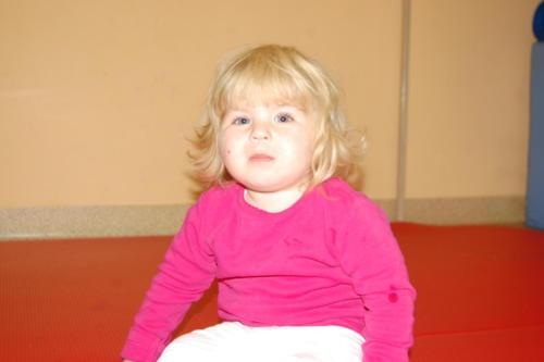 Ania podczas zajęć w Skawinie